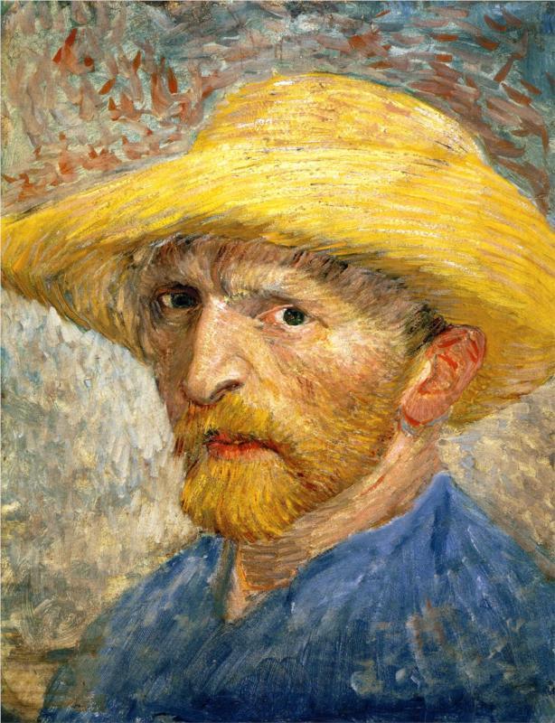 lonequixote:  Self Portrait, 1887 ~ Vincent van Gogh