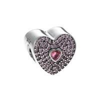 PANDORA Pink Sweetheart Charm 791555CZS | John Greed Jewellery