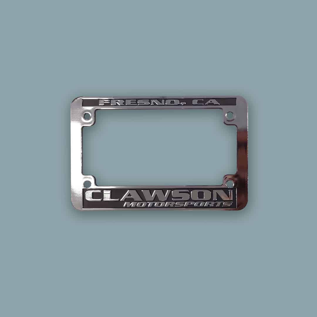 Custom Motorcycle License Plate Frames