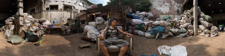 Garbage Collector, Batavia, Jakarta by Martin Broomfield