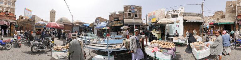 Bread Suq, Sana'a, Yemen, by Stefan Geens