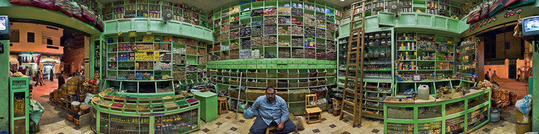 Spice shop in the Souq, Aswan, Egypt by Thomas Krueger