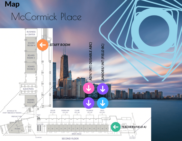 Mc Cormick Place Map for Patrons