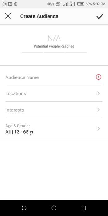 Creating audience on Instagram