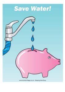 Save Water Drawing Sketch 5 -