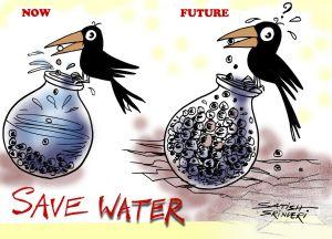 Save Water Drawing Sketch 6 -