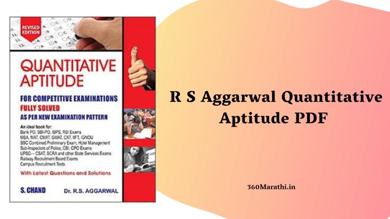 [ FREE ] R S Aggarwal Quantitative Aptitude PDF