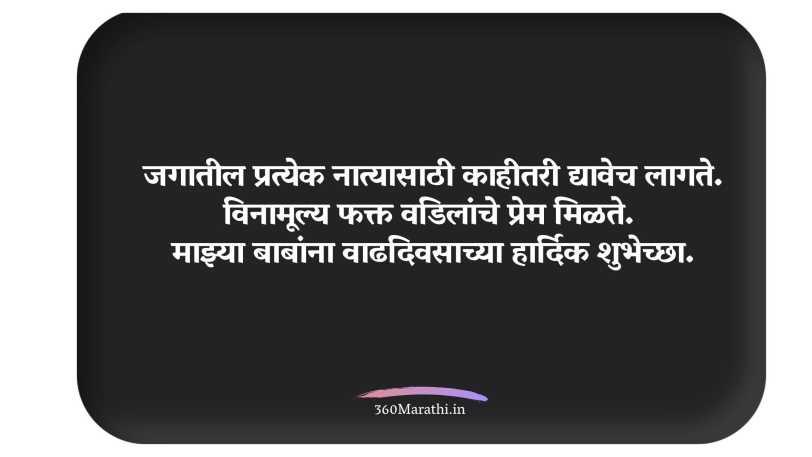 Birthday Wishes in Marathi for Father |वडिलांना वाढदिवसाच्या शुभेच्छा | बाबा वाढदिवसाच्या हार्दिक शुभेच्छा बॅनर | मुलीकडून वडिलांना वाढदिवसाच्या शुभेच्छा