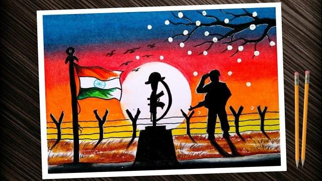 Kargil Vijay Diwas Posters Drawing 7 -