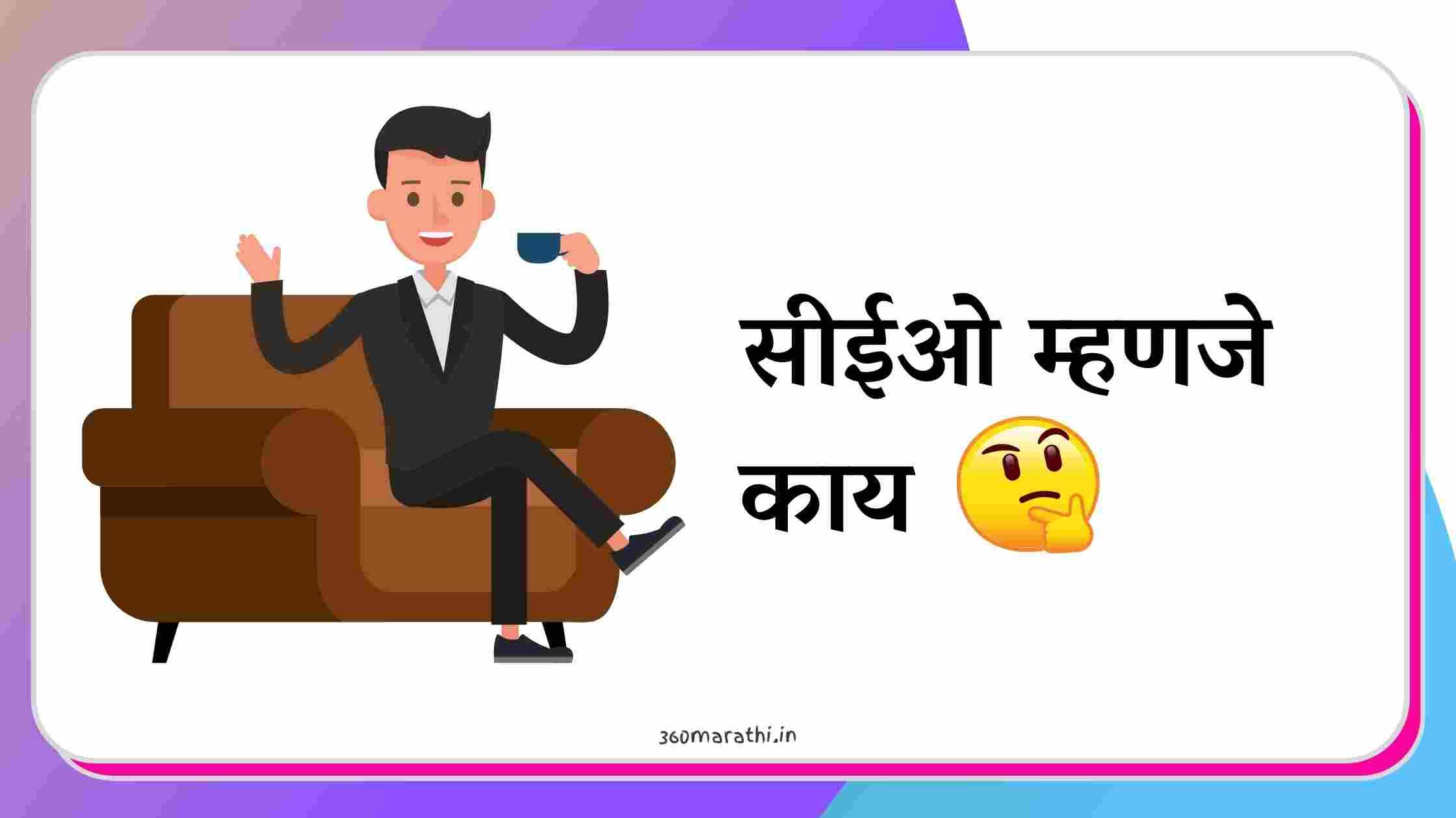 सीईओ म्हणजे काय   CEO Information in Marathi