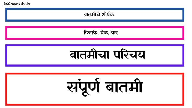 बातमी लेखन मराठी | बातमी कशी तयार करावी | News Writing in Marathi