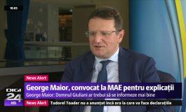 """George Maior la Digi24: """"Va veni o vreme când voi putea vorbi mai mult. Nu cred că le va face plăcere unora"""""""