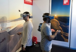Cardrona using VR headsets at trade show