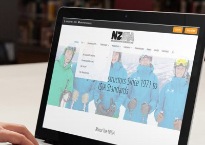 New Zealand Snowpsorts Instructor's Alliance Web Design