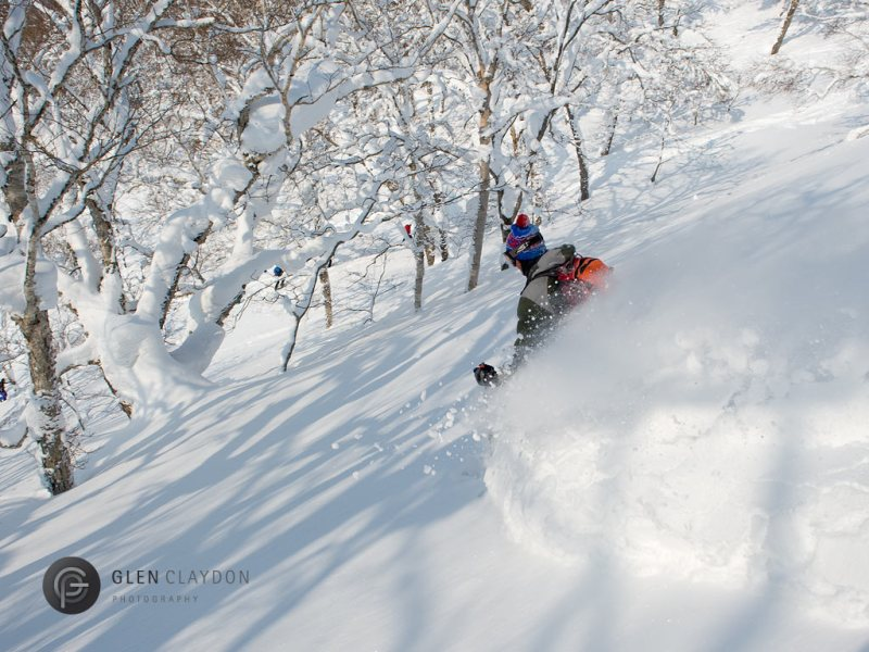 Tree skiing on Mt. Yotei with Ned Buckley, 13 February 2013