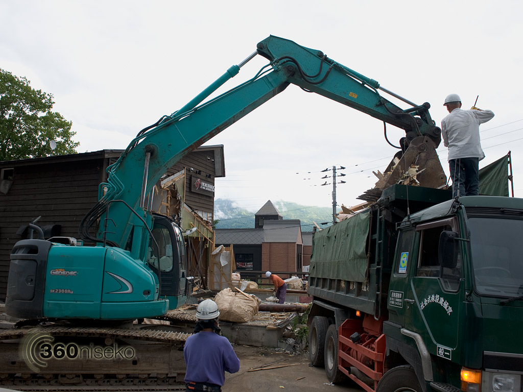 Trucking out the debris, 26 July 2013