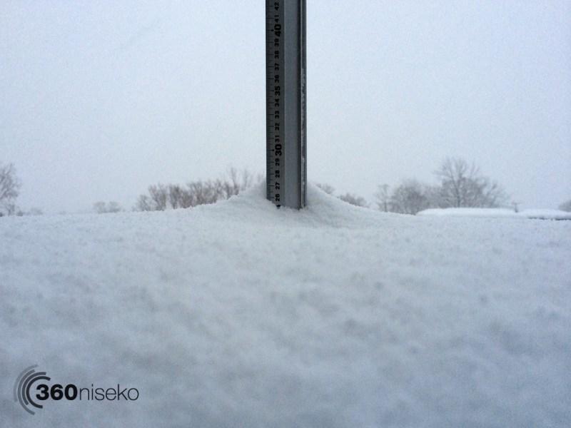 Snowfall in Hirafu Village, 10 January 2014
