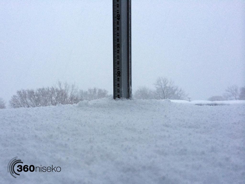 Snowfall in Hirafu Village, 12 January 2014