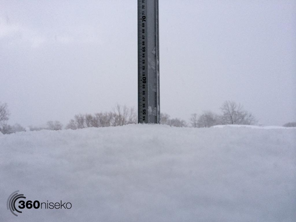 Snowfall in Hirafu Village, 14 January 2014