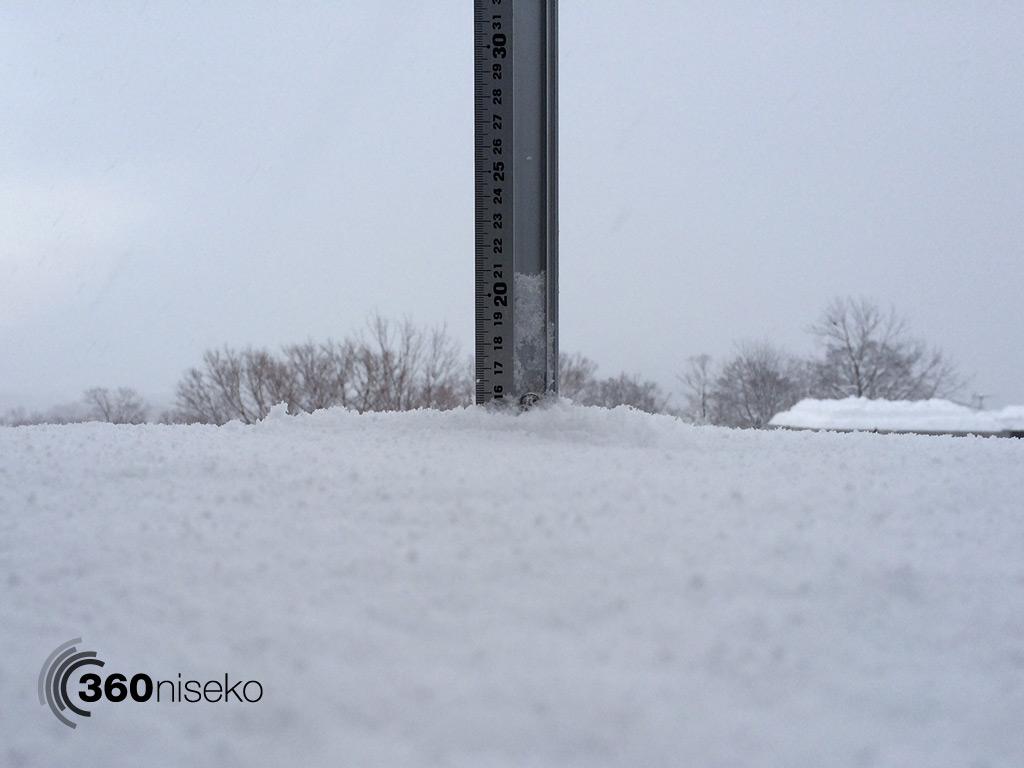 Snowfall in Hirafu Village, 22 January 2014