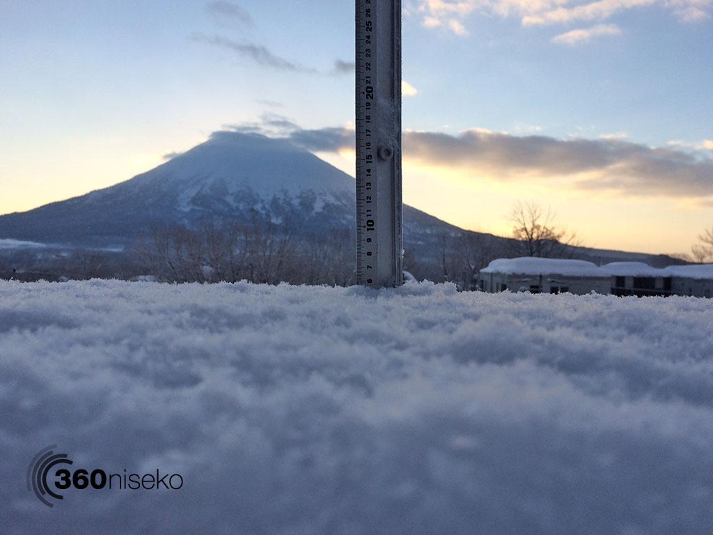 Snowfall in Hirafu Village, 12 February 2014