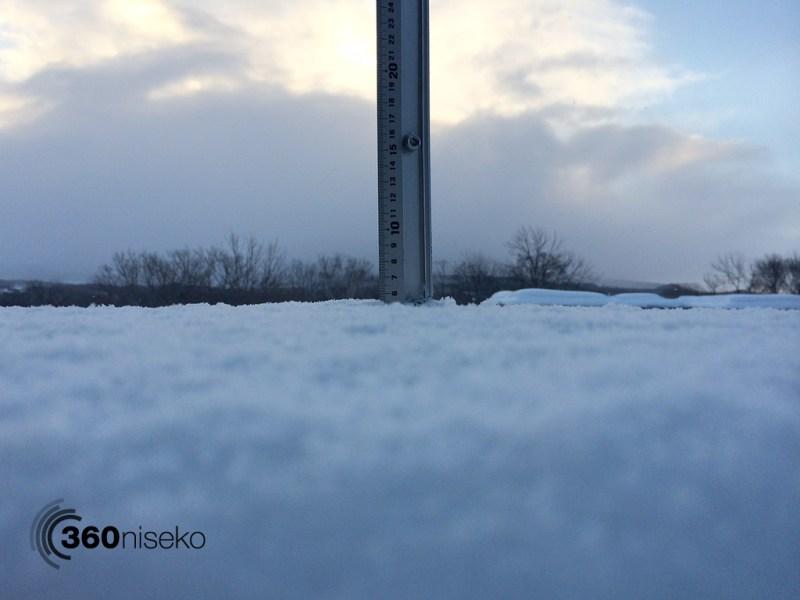 Snowfall in Hirafu Village, 19 February 2014