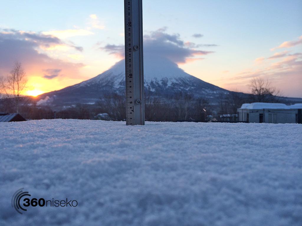Snowfall in Hirafu Village, 23 March 2014