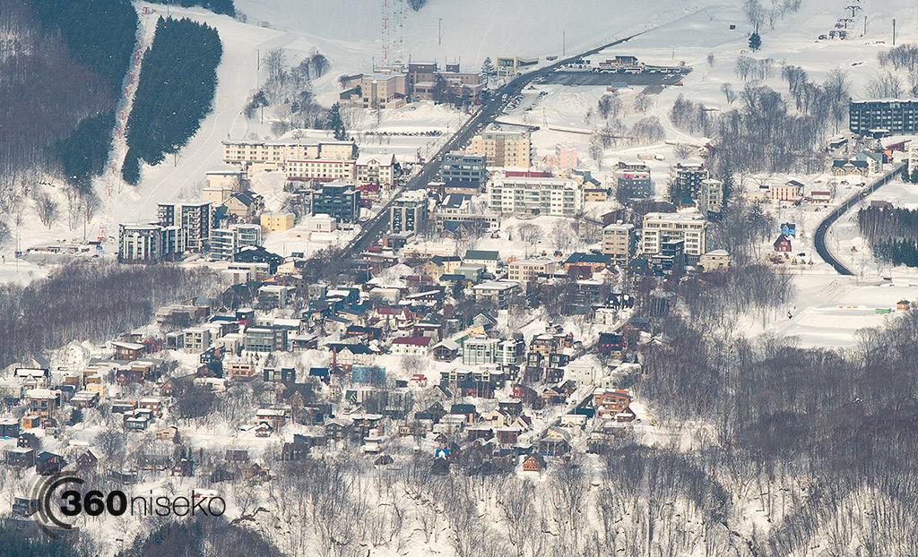 Hirafu Village from Mt.Yotei, 20 February 2015