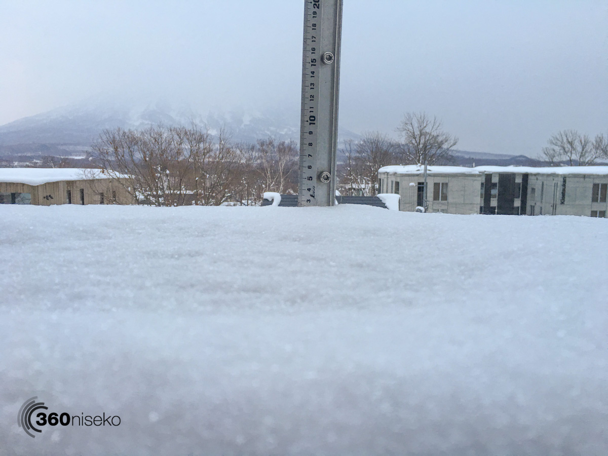 Snowfall in Hirafu Village, 19 February 2016