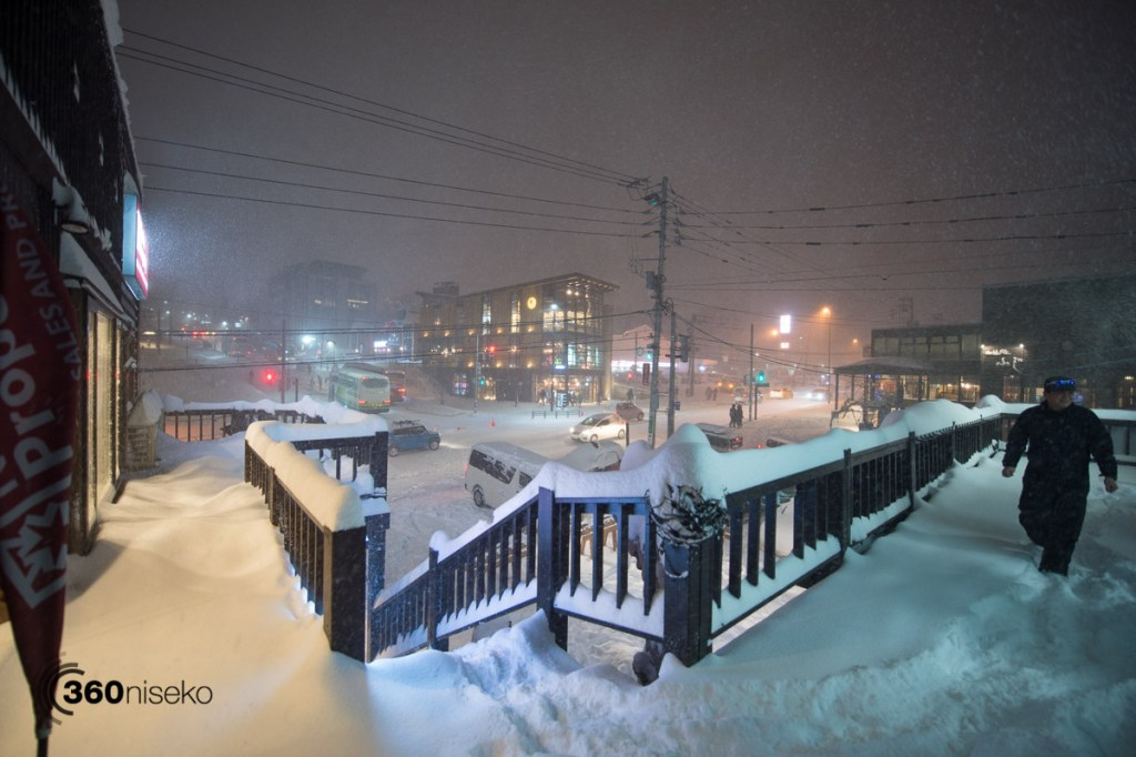 The view from Holiday Niseko , 15 December 2016