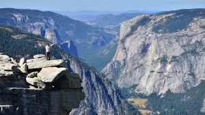 On top of the Visor, a rock feature on halfdome.