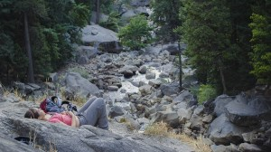 A short nap at Vernal Falls