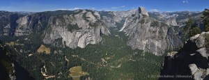 The vast panoramic view from Glacier Point