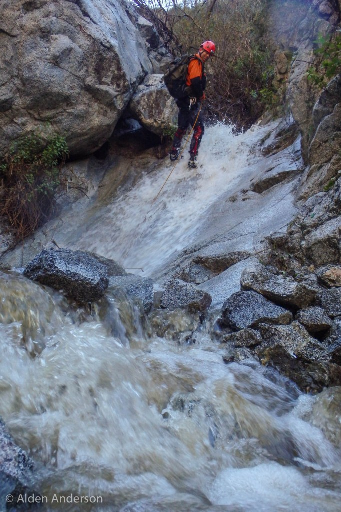 This can sometimes be a down-climb in drier weather. (A Storm, 4 Days — 4 Canyons Part 1 of 2)