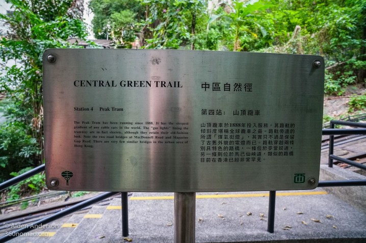 Central Green Trail Sign