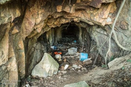 Trash inside Kamikaze Tunnel 2