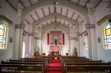 Inside the restored St Joseph's Church