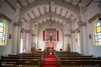 Inside the restored St Joseph's Church