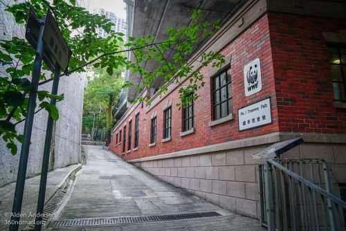 Start of Tramway Path. Left of the WWF Building