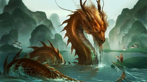Chinese Dragon, associated with water (Dragon Holes of Hong Kong)