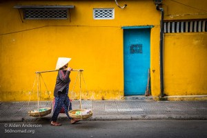 The iconic yellow walls of Hoi An