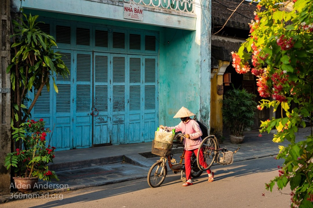 Colors of Hoi An 3 Blue Building Photography Alden Anderson
