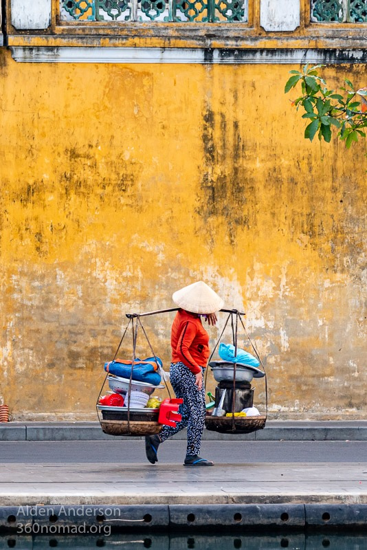 Don Ganh Hoi An Yellow Wall Reflection