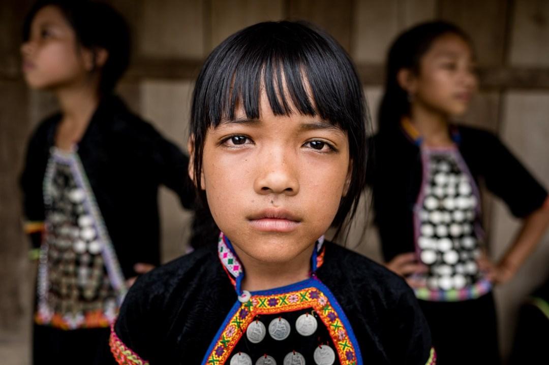 Si La Ethnic Group kids Vietnam