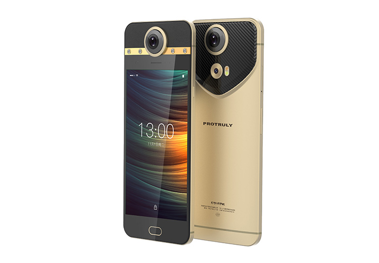 Protruly smartphone with built-in camera