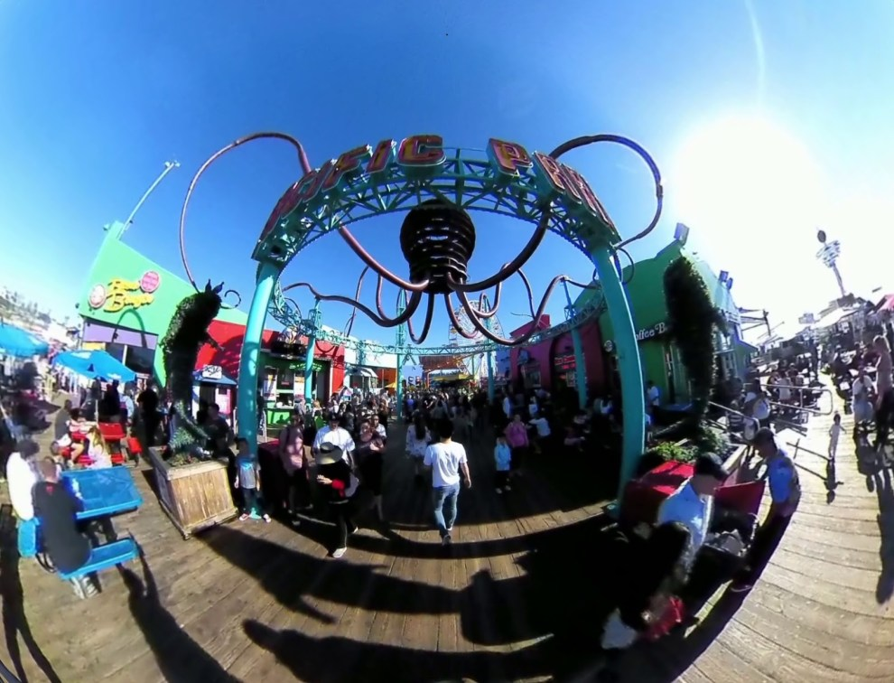360 video tour of Sta. Monica Pier