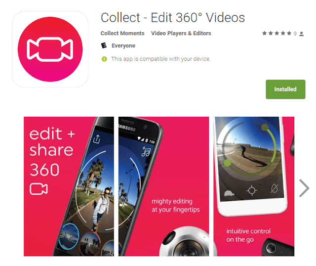 Combine and edit 360 videos on your phone with Collect