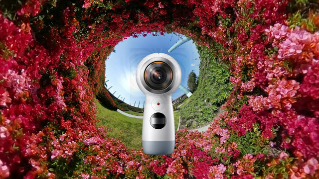 "2017 Samsung Gear 360, also known as ""the next Gear 360"""