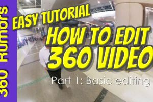 easy free tutorial for how to edit a 360 video