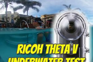 Ricoh Theta V waterproof housing test (TW-1 case)